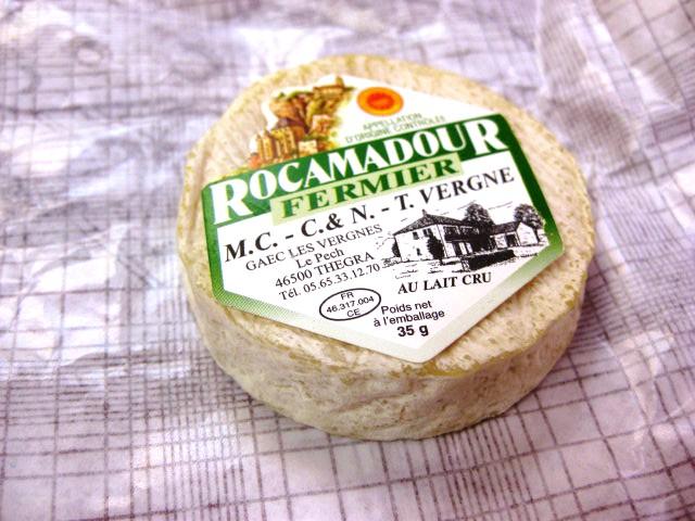 のシェーブルチーズです。 ROCAMADOUR FERMIER AOP: